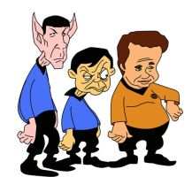 tiny toons :star trek crew by Shayeragal