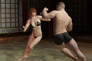 Ding - Ding :mixed boxing by therealmonty