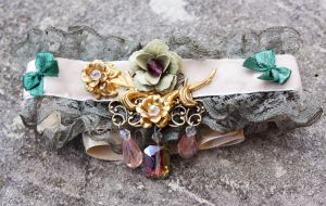 Summer baroque choker by Pinkabsinthe