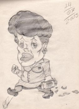 Art School: Dilma Rousseff's Caricature by RalfTheRalfMan