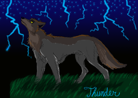timber-wolf-thunder trade by Wolf-Goddess13