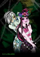 Skull Shores Frankie and Draculaura by hideko69