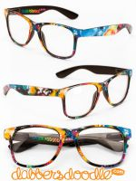 Abstract Neon Glasses by DablurArt