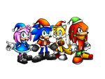 Christmas Sonic and Friends by SonicKnight007