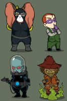 G's chibi Bat Villains set 7 by rickytherockstar