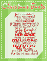 Christimas Fonts! by Waatt