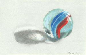 Draw Again:  Photorealistic Marble by Carryn