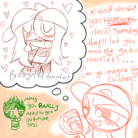 Doodle- Brick loves himself by Brashgirl901