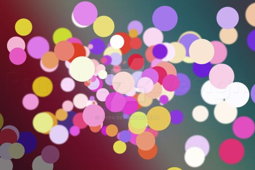 Colourful Circles with coloured background by Tiyda