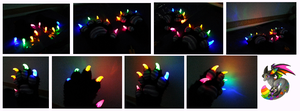Pickle LED Handpaws (lights on) by CuriousCreatures