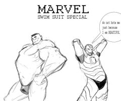 Marvel swim suit special by drazebot