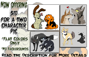 $10 Two Character Flat Pictures [SLOTS OPEN] by xAshleyMx