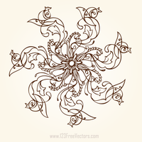 Hand Drawn Flower Designs by 123freevectors