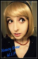 Nancy Drew Wig - W.I.P. by artemisroseshadow
