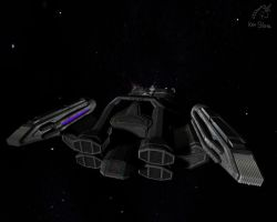 Kalima's freighter from rear by otherunicorn