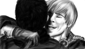 Happy to see you Merlin by LoverRevolveri
