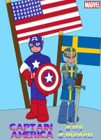 Heroes of Amercia and Sweden by MCsaurus