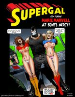 Supergal and Marie Marvell - At Bone's Mercy! by DrVillain