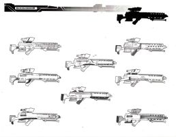 design Process: 2 tones guns by danielcherng