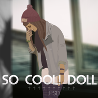 So cool! Doll PSD by PixelTux
