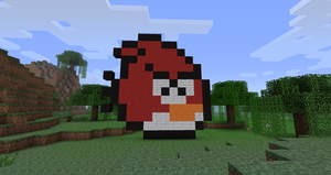 Minecraft angry bird by 1will2000will1