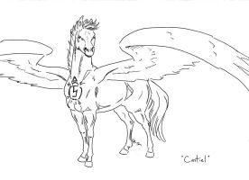 Equine Castiel LINEART by SharysAogail