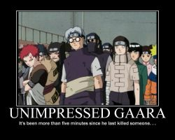 Naruto Gaara Motivational Poster by WithinTheCosmos