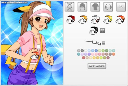 Pokemon cosplayer dress up game by Rinmaru
