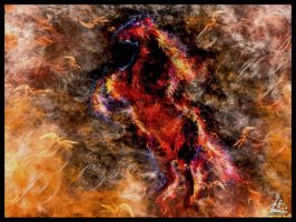 Abstract (Burning Horse) by Huzznie