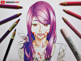 Rize Kamishiro || Tokyo Ghoul by HideakiArtReal