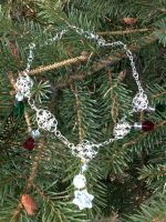 Snowflake Chainmail Necklace by FaerieForgeDesign