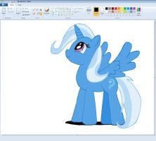 Paint makes Trixie to a Alicorn by sallycars