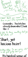 Personal Quirks by cassielynne