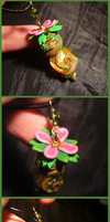 Dekuflower Vial - handmade Bottlecharm by Ganjamira