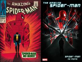Spiderman Cover Tribute Comparison by x-men-pro