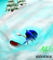 sonic at winter olympic games by alchybear