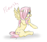 Fluttershy -sketch- by CrisisDragonfly