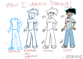 How I Draw Danny by onedaysoon