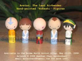 "Avatar ""Kokeshi"" dolls by amigurumi"
