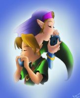 Link and Zelda_Ocarina Duet by Meya-san