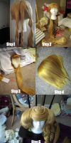 Progress of Hozuki Bonbori Wig by koi-ishly