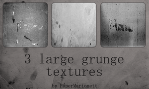 3 grunge textures by PaperMarionett
