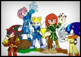 Sonic Benders by GreenBlood12354