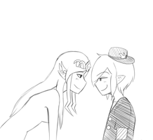 Request: SP Zelda And Link by Ask-VioLink