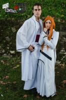 Bleach - Aizen and Orihime 2 by LadyGrell93