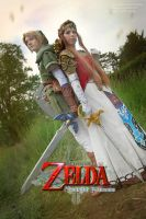 Hero and Princess of Hyrule by laurasstarlight