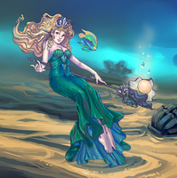Sea Goddess Janna by duskemi