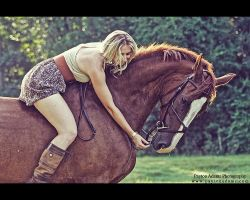 A Girl and Her Horse III by PaytonAdams1