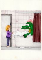 If you see a crocodile in your tub... by millemille
