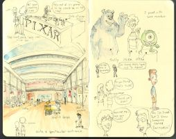 An Illustrated Tour of Pixar 2 by MikeBear-A-Weanie